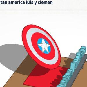 Escudo Capitan America Luis y Clemen Gandhi